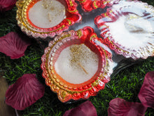 Load image into Gallery viewer, Hand Painted Diwali Clay Diya Set of 4