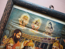Load image into Gallery viewer, Vintage Hindu Rama Framed Devotional Puja Print Lithograph