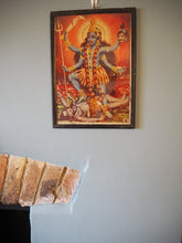 Load image into Gallery viewer, Vintage Framed Hindu Hanuman Devotional Puja Print Lithograph