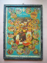 Load image into Gallery viewer, Vintage Hindu Gods Framed Devotional Puja Print Lithograph