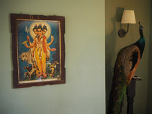 Load image into Gallery viewer, Vintage Hindu Dattatreya Framed Devotional Puja Print Lithograph