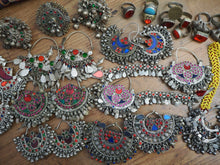 Load image into Gallery viewer, HUGE KUCHI LOT Vintage Afghan Kuchi Tribal Earring Ring Lot