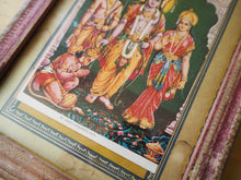 Load image into Gallery viewer, Vintage Hindu Rama Sita Hanuman Framed Devotional Puja Print Lithograph