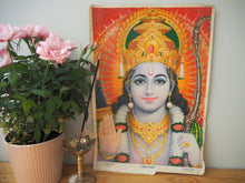 Load image into Gallery viewer, Vintage Hindu Rama Devotional Puja Print Lithograph