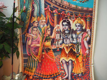 Load image into Gallery viewer, Vintage Hindu Mythological Wedding Shiva Devotional Puja Print Lithograph