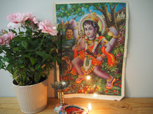Load image into Gallery viewer, Vintage Hindu Shiva Kali Devotional Puja Print Lithograph