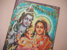 Load image into Gallery viewer, Vintage Hindu Glitter Shiva Devotional Puja Print Lithograph