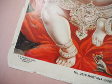 Load image into Gallery viewer, Vintage Hindu Ganesh Devotional Puja Print Lithograph