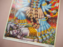 Load image into Gallery viewer, Vintage Hindu Kali Devotional Puja Print Lithograph