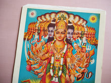 Load image into Gallery viewer, Vintage Hindu Vishnu Devotional Puja Lithograph
