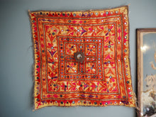Load image into Gallery viewer, Vintage silk floss Kambi Gujarati Chakla