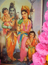 Load image into Gallery viewer, Vintage Hindu Shiva Ganesh Devotional Puja Print Lithograph