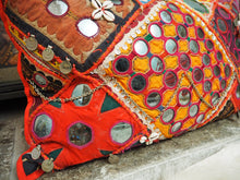 Load image into Gallery viewer, Vintage Patchwork Banjara Indian Mirrored Bohemian Eclectic Scatter Pillow Cushion
