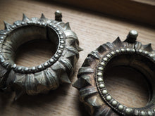 Load image into Gallery viewer, Vintage Rare Indian Tribal Orissa Spiked Cuff Pair x 2