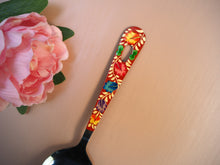 Load image into Gallery viewer, Hand Painted Kashmir Enamelware Floral Kitsch Kitchen Large Serving Spoon