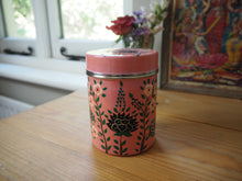 Load image into Gallery viewer, Hand Painted Kashmir Enamelware Large Floral Spice Tea Tin