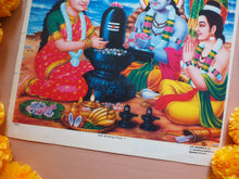 Load image into Gallery viewer, Vintage Hindu Shiva Devotional Puja Print Lithograph