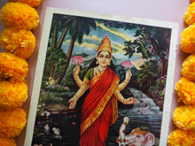 Load image into Gallery viewer, Vintage Hindu Lakshmi Devotional Puja Print Lithograph