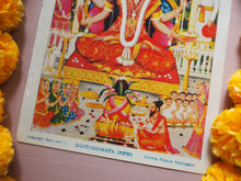 Load image into Gallery viewer, Vintage Hindu Lakshmi Santoshimata Framed Devotional Puja Lithograph