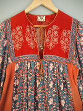 Load image into Gallery viewer, Vintage Indian Hand Block Printed Anokhi Cotton Dress