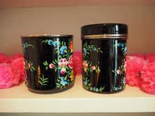 Load image into Gallery viewer, Hand Painted Kashmir Enamelware Large Floral Glamping Mug Tin Set
