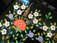 Load image into Gallery viewer, Hand Painted Kashmir Enamelware Floral Kitsch Tray