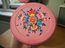 Load image into Gallery viewer, Hand Painted Kashmir Enamelware Floral Kitsch Biscuit Tin