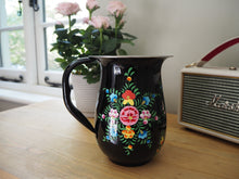 Load image into Gallery viewer, Hand Painted Kashmir Enamelware Floral Kitsch Jug