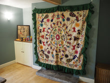 Load image into Gallery viewer, Vintage Indian Gujarat Embroidered Canopy Textile Wall Hanging