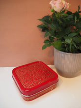 Load image into Gallery viewer, Hand Painted Kashmir Enamelware Floral Kitsch Small Square Lunch Box