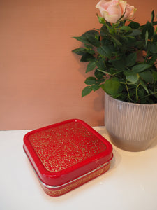 Hand Painted Kashmir Enamelware Floral Kitsch Small Square Lunch Box