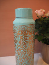 Load image into Gallery viewer, Hand Painted Kashmir Enamelware Floral 1 Litre Water Bottle