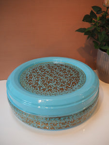 Hand Painted Kashmir Enamelware Floral Kitsch Masala Dabba/Spice Box