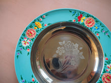 Load image into Gallery viewer, Hand Painted Kashmir Enamelware Floral Kitsch Plate