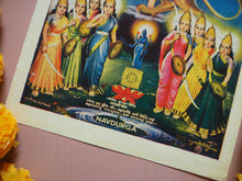 Load image into Gallery viewer, Vintage Hindu Durga Devotional Puja Print Lithograph
