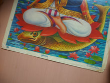 Load image into Gallery viewer, Vintage Hindu Jhulelal Devotional Puja Print Lithograph