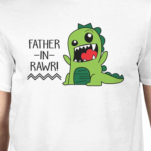 Father-In-Rawr Mens White Short Sleeve Shirt