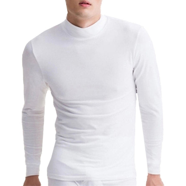 Men High Neck Long Sleeve t shirts