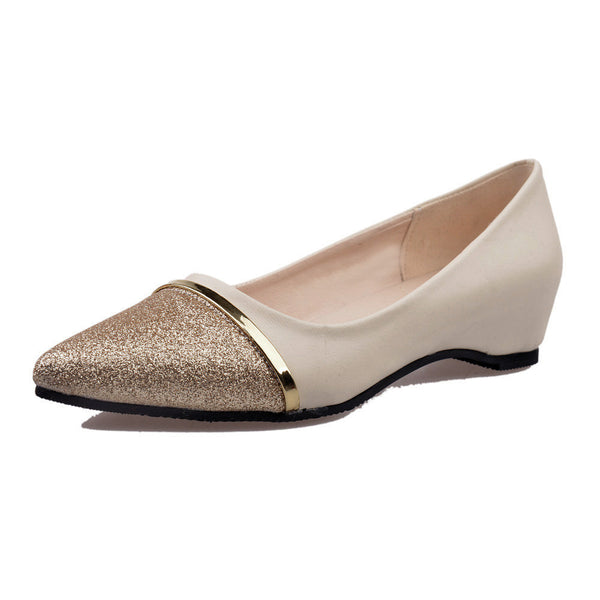 Ladies Women's Shoes Fashion Pointed Toe Casual Shoes Low Heel Flat Shoes