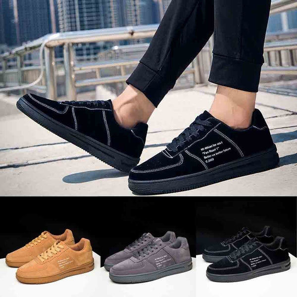 Men's Casual Shoes Flat Bottom Shoes Leather Breathable Shoes Sports Shoes