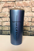 Faith cross tumbler
