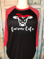 Farm life raglan shirt
