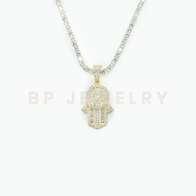 New Crystal Gold Hamsa Set - BERNA PECI JEWELRY