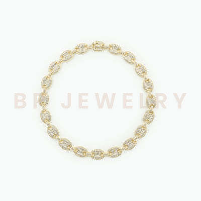 New Gold Crystal Cuban Link - BERNA PECI JEWELRY