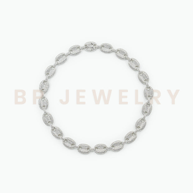 New Silver Crystal Cuban Link - BERNA PECI JEWELRY