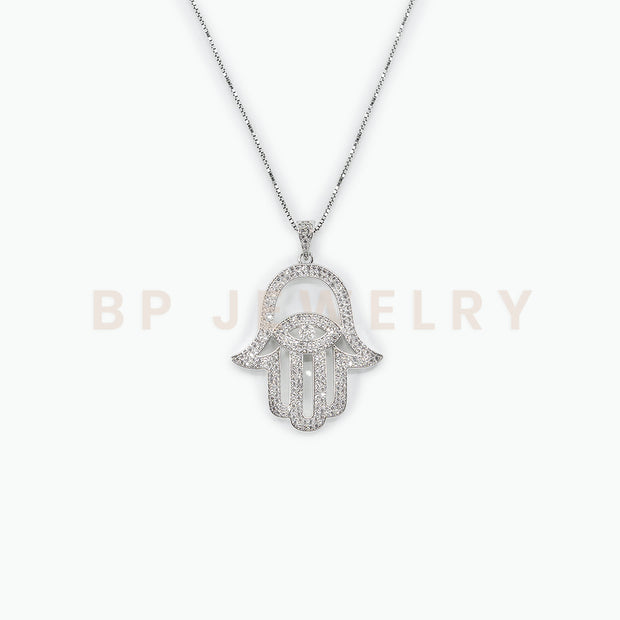 New Diamond Hamsa Chain - BERNA PECI JEWELRY