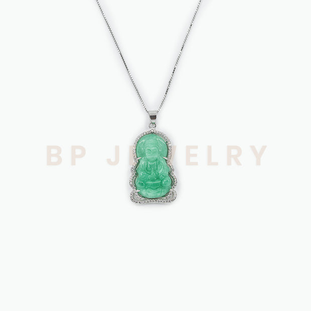 New Silver Diamond Buddha Chain - BERNA PECI JEWELRY