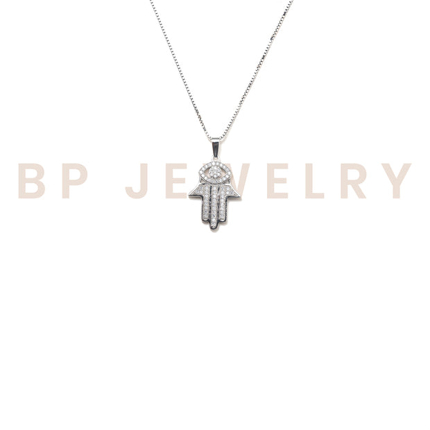 Mini Crystal Hamsa Chain - BERNA PECI JEWELRY