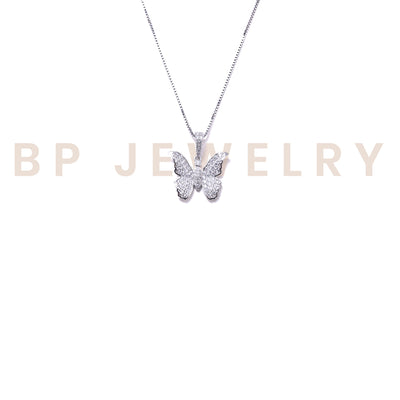 Mini Crystal Butterfly Necklace - BERNA PECI JEWELRY
