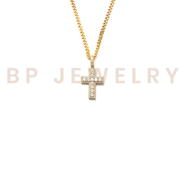 New Gold Essential Cross - BERNA PECI JEWELRY